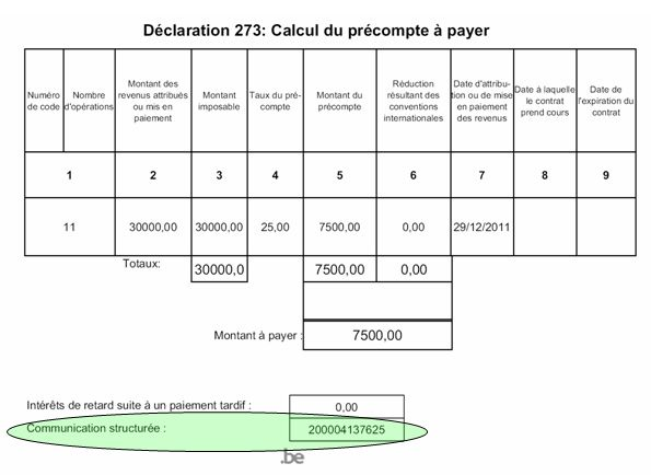 declaration precompte mobilier internet